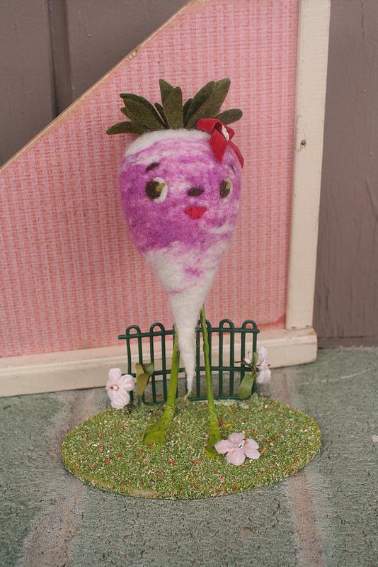 All Good Wishes needle felted radish
