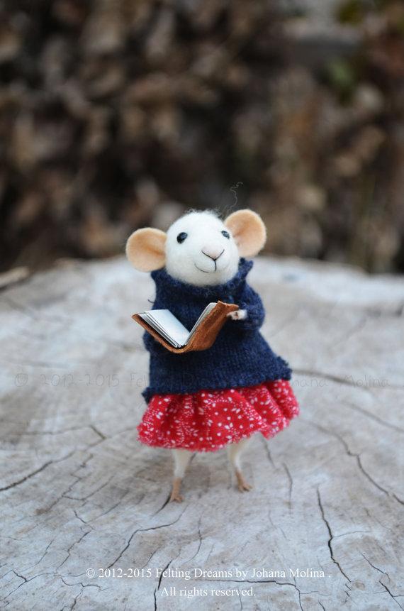 Felting Dreams needle felted mouse