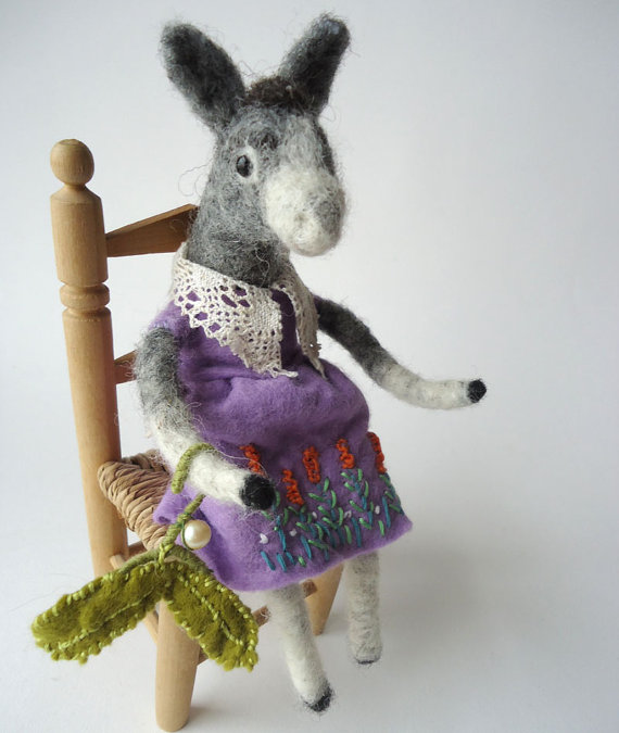 Miss Bumbles needle felted mule