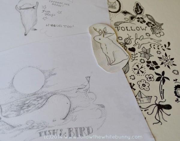 Scenes from Nicole's sketchbook.