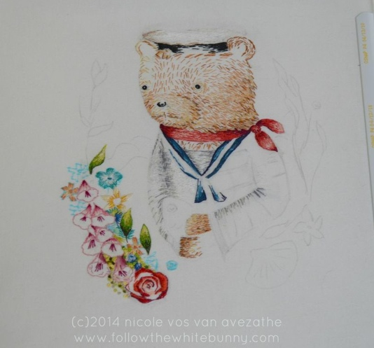 Bear and Fish in process.