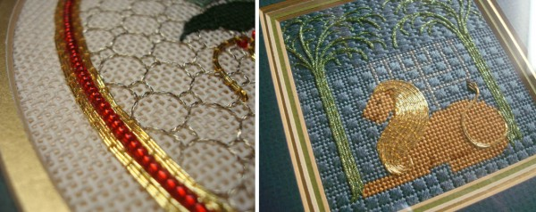 Traditional embroidery over the years has always featured couching techniques.