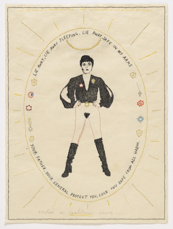 David Curcio - Under A Yellow Sun - Hand Embroidery