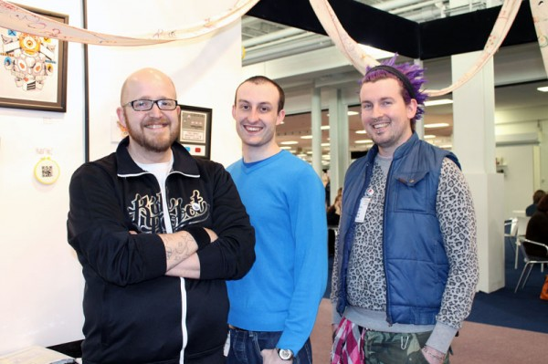 Mr X Stitch, Lord Libidan and Spike Dennis at the Mr X Stitch Inspiration Station
