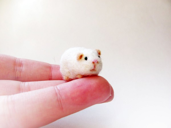 Handmade by November, needle felted guinea pig