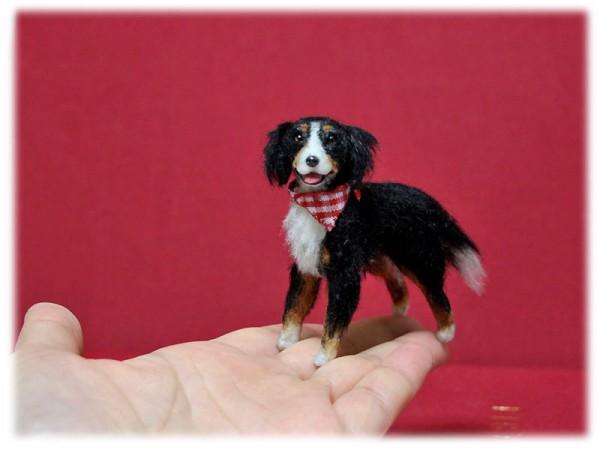 Mikepanchi Animals, needle felted dog