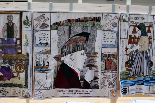 James Hutton panel at the Great Tapestry of Scotland