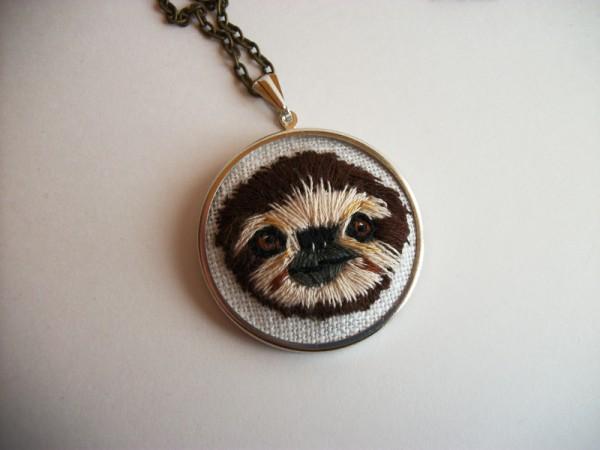 MichelleNeal_slothpendant