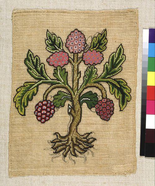 Embroidered slip, c1600 © V&A