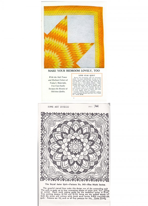 Ver Mehren's The Royal Aster Quilt pattern #342, Home Art Studio catalog, courtesy Merikay Waldvogel
