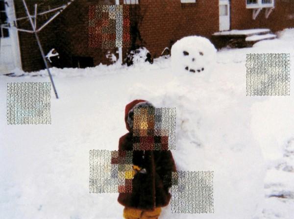 Diane Meyer - New Jersey III - cross stitch on photograph