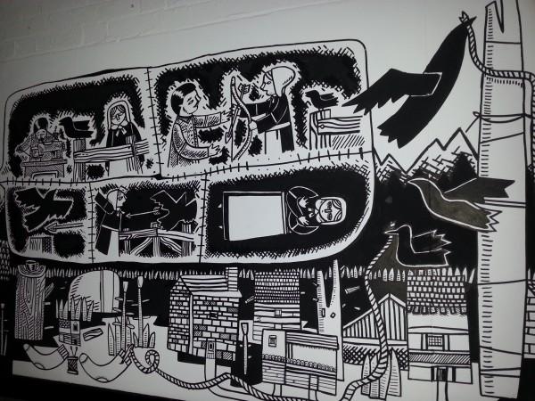 Stewart Easton Mural at Cecil Sharp House