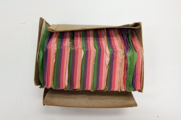 Die-cut pieces arranged by color would arrive by mail to quilters in the United States in the early 20th century.