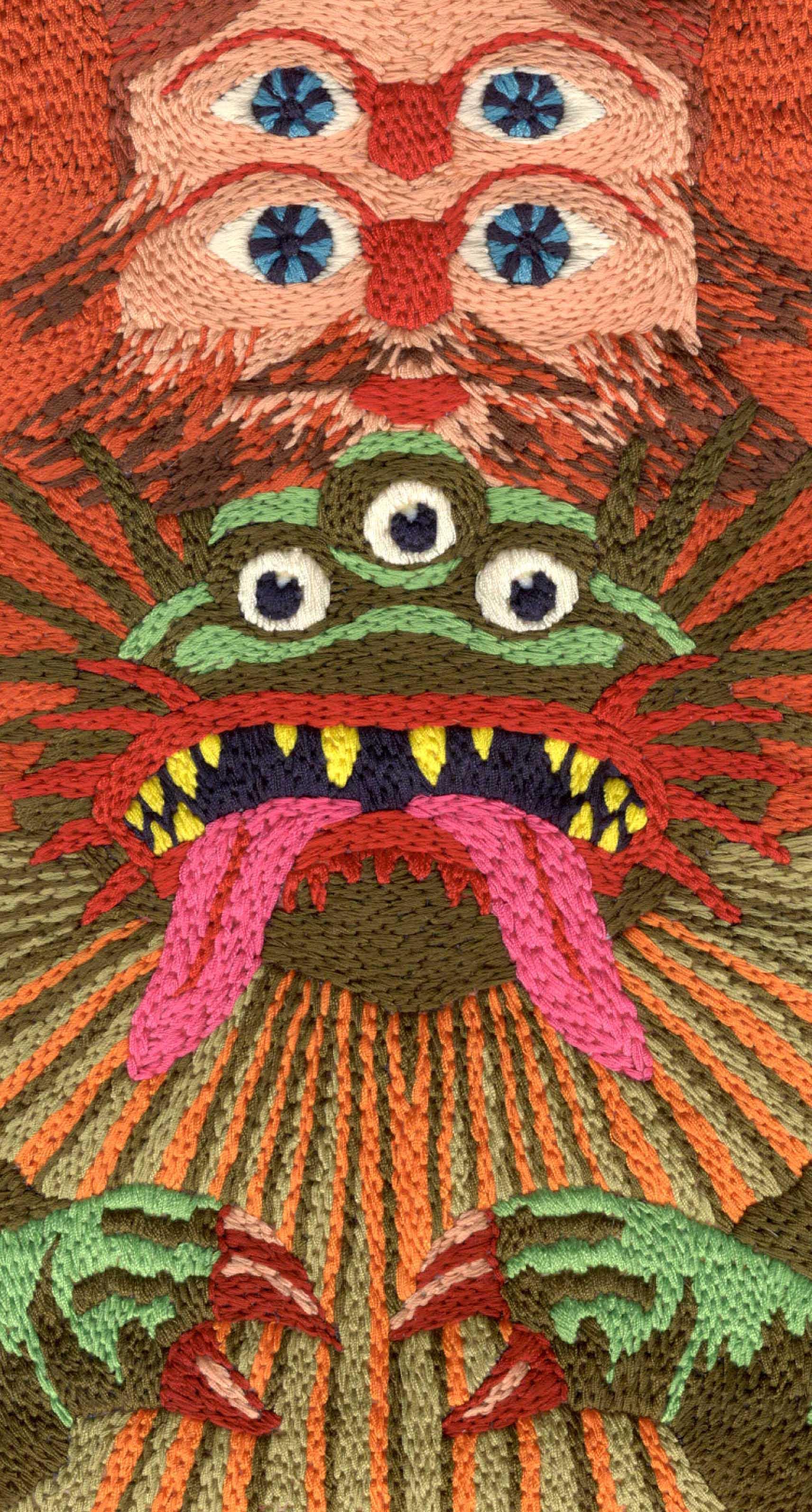 Almas Pieters - Godzillaman (detail)