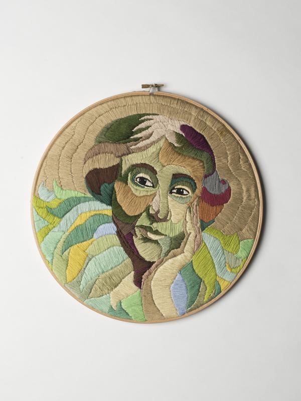 Luisa Zilio - Virginia Woolf - Hand Embroidery