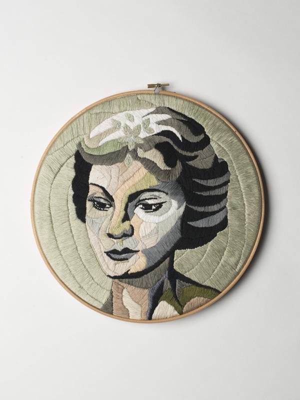 Luisa Zilio - Vivien Leigh - Hand Embroidery