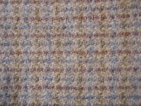 A delicately-coloured Harris Tweed (detail from a 1960s coat).