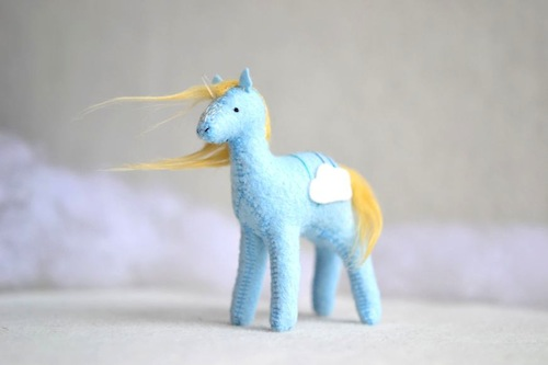 Cloud Crystal Pony by Sabina Gibson (Soft Sculpture)