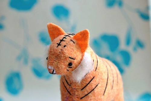 Little Tiger by Sabina Gibson (Soft Sculpture)