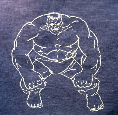 Nikschaf's Hulk Embroidered Napkin
