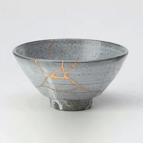 """When an item is mended with gold it's called, """"Kintsugi""""."""
