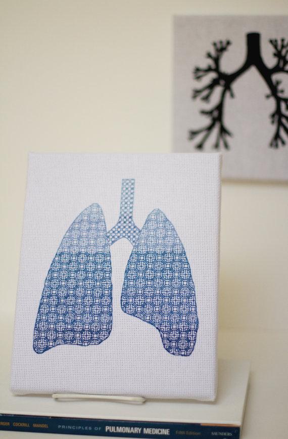 Blackwork lungs by GeekySqueaky