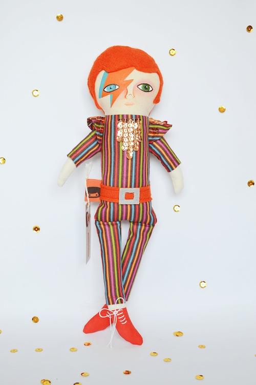 David Bowie Doll by Mandarinas de Tela (Soft Sculpture)