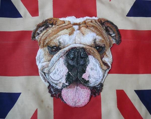 Stacey Chapman - Bulldog - Machine Embroidery