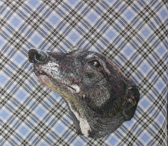 Stacey Chapman - Greyhound - Machine Embroidery