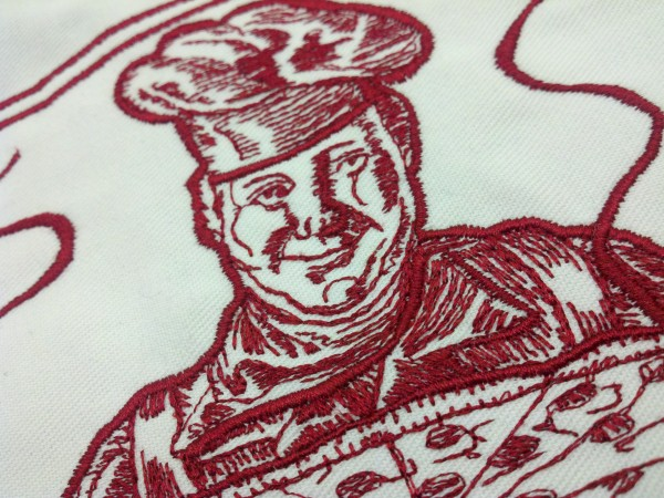 Dion's Pizza Logo Face Detail by Erich Campbell