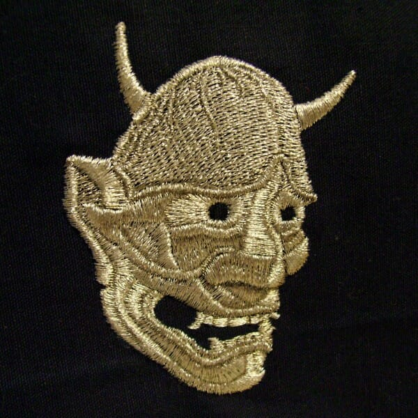 Hannya Mask Embroidery Design by Erich Campbell