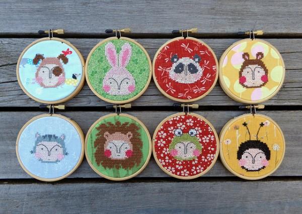 Animal Kids. Cross stitch by Sandra Murta, 2014.
