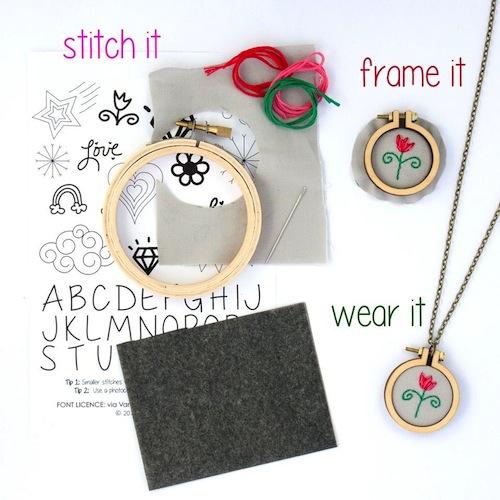 Mini Hoop Kits by Dandelyne (Hand Embroidery)