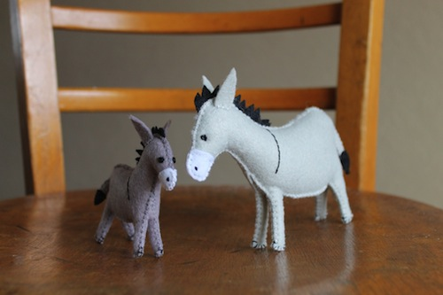 Mother and baby donkey by The Ladybird Tree (Hand Embroidery)