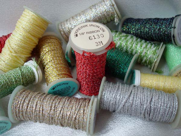 Kreinik Iron-on Thread for quick, no-sew, faux embroidery