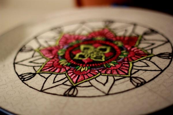 Mandala (detail) by Tanya Kirsanova