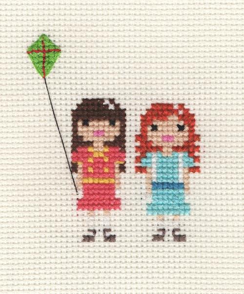 Pixel Portrait by Scarlet Pyjamas (Hand Embroidery)