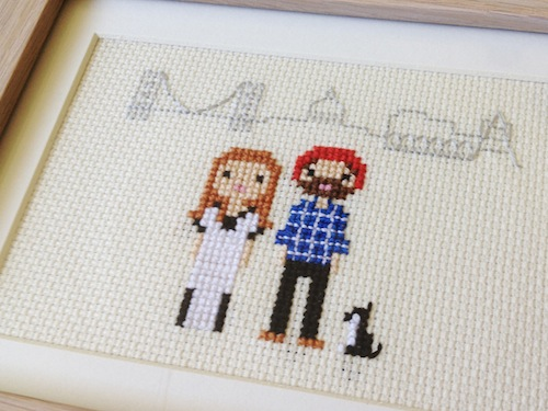 New Home Pixel Portrait by Scarlet Pyjamas (Hand Embroidery)