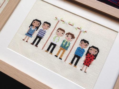 Custom Pixel Portrait by Scarlet Pyjamas (Hand Embroidery)