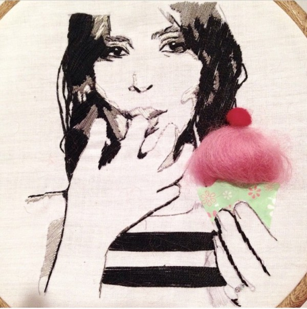Kupcake. Hand embroidery.