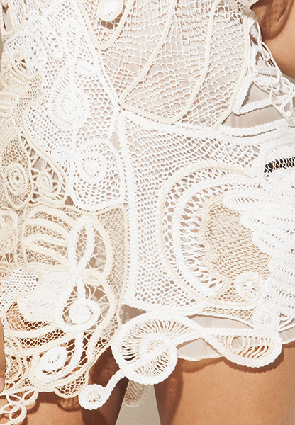 Detail of Maria Hera's prize-winning dress.
