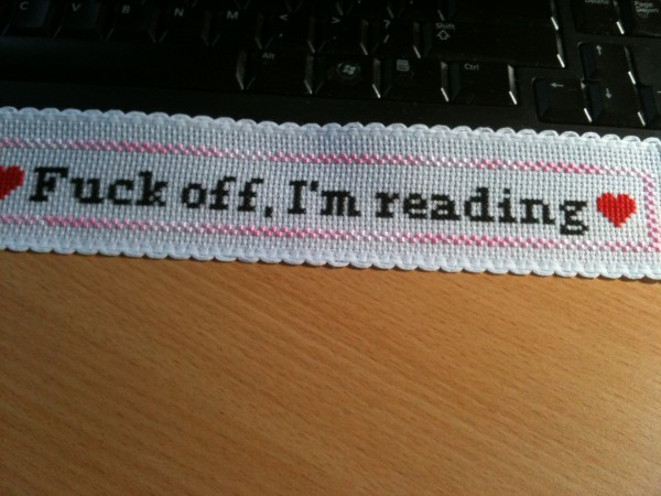 Donna Martin's Cross Stitched Bookmark