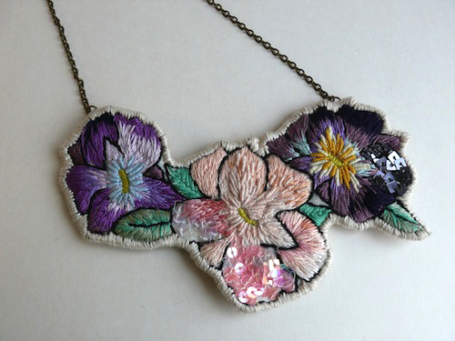 Rosita Necklace by Casatienda de Amelia B (Hand Embroidery)