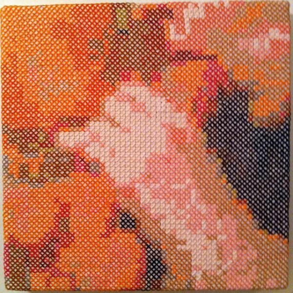 Ellen Schinderman - Sucker - cross stitch