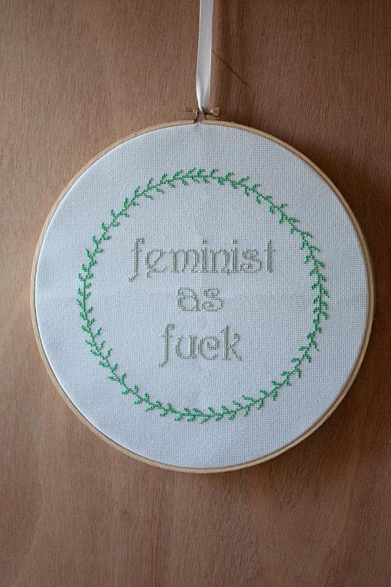 Fallen Designs' Feminist Cross Stitch