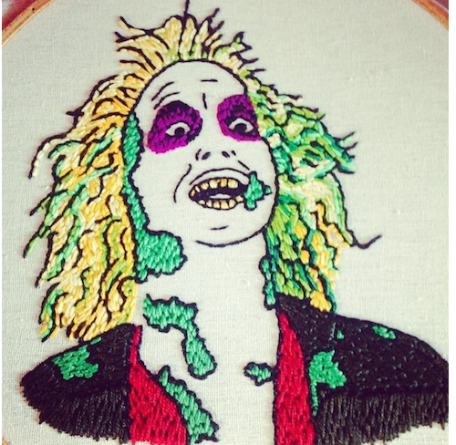 Beetlejuice by Stitch You Up (Hand Embroidery)