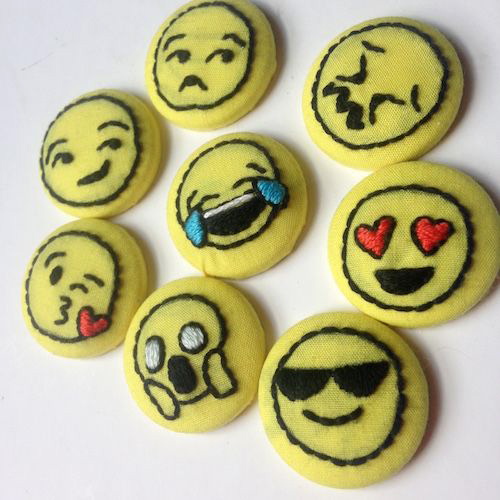 Emoji Badges by Stitch You Up (Hand Embroidery)