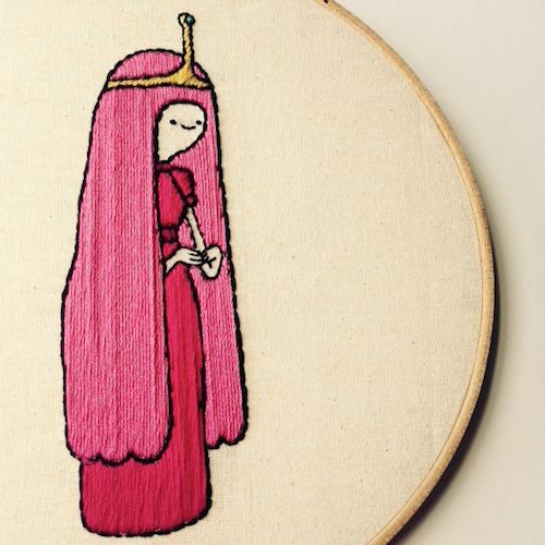 Princess Bubblegum by Stitch You Up (Hand Embriodery)
