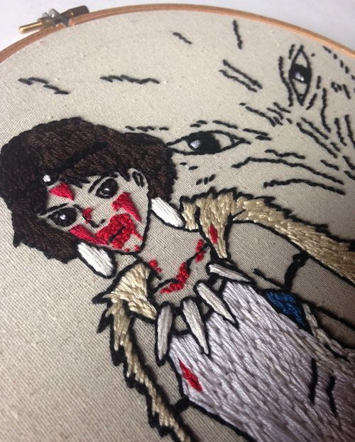 Princess Mononoke by Stitch You Up (Hand Embroidery)