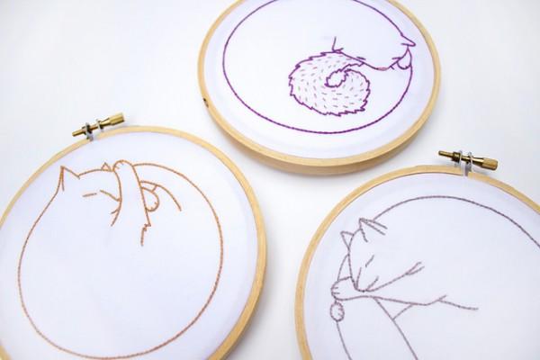 Circle Kitties by Cate Anevski.